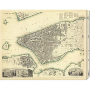 New York, NY, 1840: 28 x 22 Canvas Giclees, Wall Art