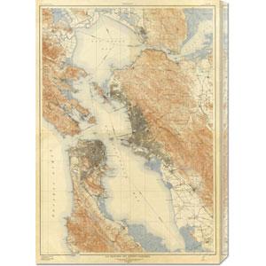 San Francisco and Vicinity, California, 1915: 20.9 x 30 Canvas Giclees, Wall Art