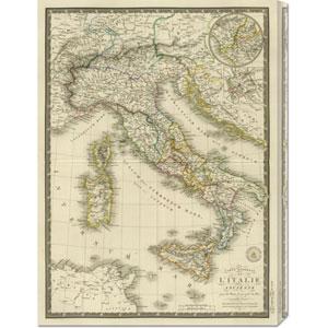 Italie Ancienne, 1828 by Adrien Hubert Brue: 22.1 x 30 Canvas Giclees, Wall Art