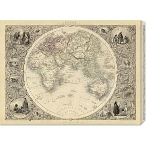 Eastern Hemisphere, 1851 by R.M. Martin: 30 x 22.35 Canvas Giclees, Wall Art