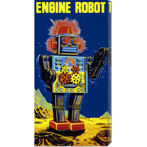 Engine Robot: 24 x 12 Canvas Giclees, Wall Art