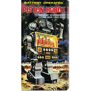Battery Operated Piston Robot: 20 x 8 Canvas Giclees, Wall Art