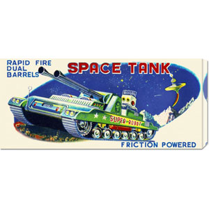 Rapid Fire Dual Barrell Space Tank: 12 x 24 Canvas Giclees, Wall Art