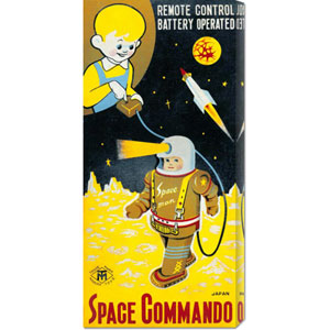 Space Commando, 24 x 12 Canvas Giclees, Wall Art