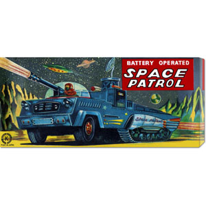 Space Patrol: 12 x 24 Canvas Giclees, Wall Art