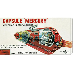 Capsule Mercury: 12 x 24 Canvas Giclees, Wall Art