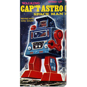 Capt Astro Space Man: 24 x 12 Canvas Giclees, Wall Art