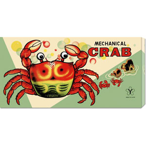 Mechanical Crab: 12 x 24 Canvas Giclees, Wall Art