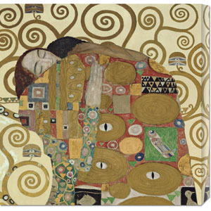 The Embrace by Gustav Klimt: 24 x 24 Canvas Giclees, Wall Art