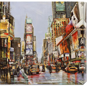 Times Square Jam by John B. Mannarini: 24 x 24 Canvas Giclees, Wall Art