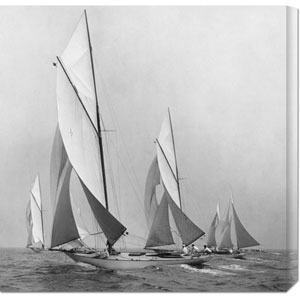 Sailboats Sailing Downwind, 1920 by Edwin Levick: 24 x 24 Canvas Giclees, Wall Art