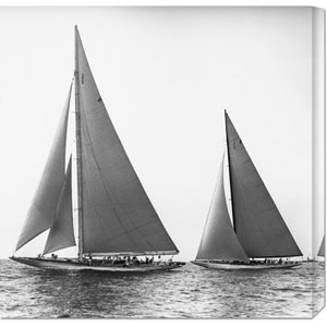 Sailboats in the Americas Cup, 1934 by Edwin Levick: 24 x 24 Canvas Giclees, Wall Art