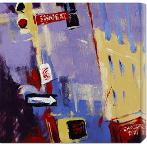 Spring Street Signage by Patti Mollica: 24 x 24 Canvas Giclees, Wall Art