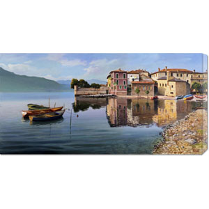 Paese Sul Lago by Adriano Galasso: 36 x 18 Canvas Giclees, Wall Art