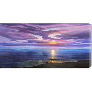 Tramonto sognante by Adriano Galasso: 36 x 18 Canvas Giclees, Wall Art