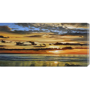 Alba Sul Mare by Adriano Galasso: 36 x 18 Canvas Giclees, Wall Art