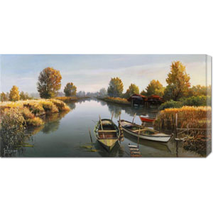 Sul Fiume by Adriano Galasso: 36 x 18 Canvas Giclees, Wall Art