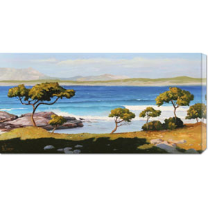 Spiaggia Del Mediterraneo by Adriano Galasso: 36 x 18 Canvas Giclees, Wall Art