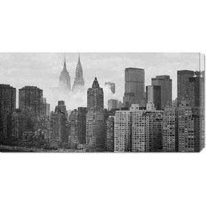 Empire and Chrysler Buildings Behind Skyline: 36 x 18 Canvas Giclees, Wall Art