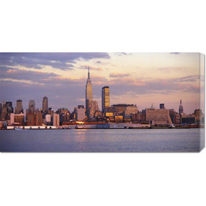 Skyline of New York City: 36 x 18 Canvas Giclees, Wall Art