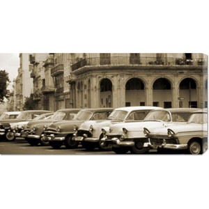 Automobiles, Cuba by Nik Wheeler: 36 x 18 Canvas Giclees, Wall Art