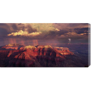 Sunset Thunderstorm at Grand Canyon by Bill Ross: 36 x 18 Canvas Giclees, Wall Art