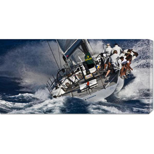 Maxi Yacht Sailing by Carlo Borlenghi: 36 x 18 Canvas Giclees, Wall Art