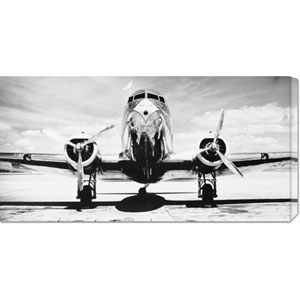 Passenger Airplane on Runway by Philip Gendreau: 36 x 18 Canvas Giclees, Wall Art