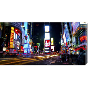 Times Square by Night by Ludo H: 36 x 18 Canvas Giclees, Wall Art