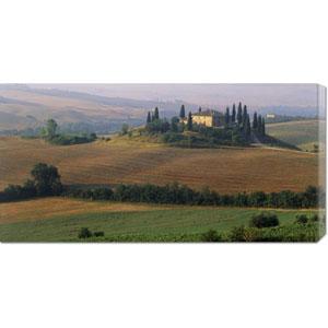 Tuscany, Val dOrcia, Fields at Sunrise by Sergio Pitamitz: 36 x 18 Canvas Giclees, Wall Art