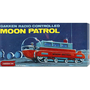 Moon Patrol: 11 x 22 Canvas Giclees, Wall Art