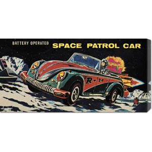 Battery Operated Space Patrol Car: 11 x 22 Canvas Giclees, Wall Art