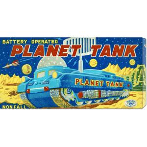 Planet Tank: 11 x 22 Canvas Giclees, Wall Art