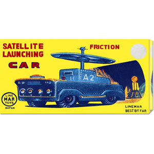 Satellite Launching Car A2: 11 x 22 Canvas Giclees, Wall Art