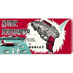 Atomic Disintegrator: 11 x 22 Canvas Giclees, Wall Art