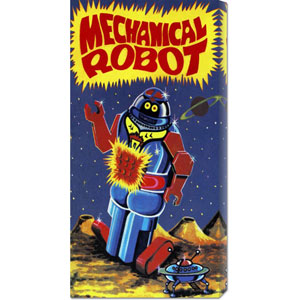Mechanical Robot: 22 x 11 Canvas Giclees, Wall Art