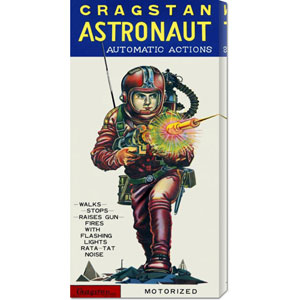 Cragstan Astronaut Automatic Actions: 22 x 11 Canvas Giclees, Wall Art