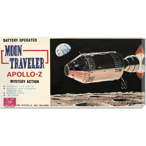 Moon Traveler Apollo-Z: 11  x 22 Canvas Giclees, Wall Art