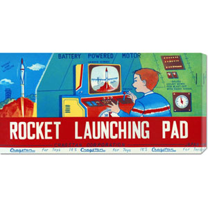 Rocket Launching Pad: 11 x 22 Canvas Giclees, Wall Art