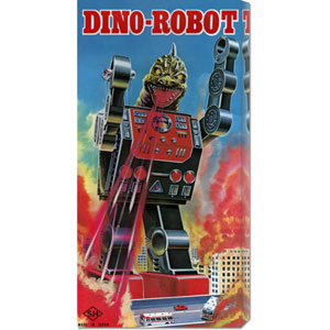 Dino-Robot: 22 x 11 Canvas Giclees, Wall Art