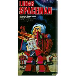 Lunar Spaceman: 22 x 11 Canvas Giclees, Wall Art