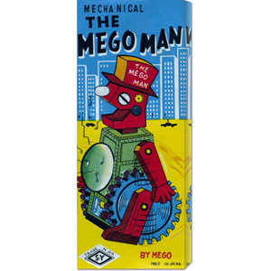 The Megoman: 22 x 8 Canvas Giclees, Wall Art