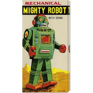 Mechanical Mighty Robot: 22 x 10.78 Canvas Giclees, Wall Art