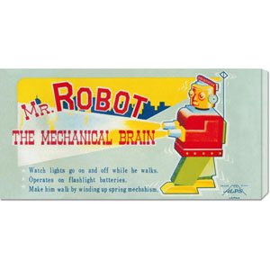 Mr. Robot: The Mechanical Brain: 11 x 22 Canvas Giclees, Wall Art