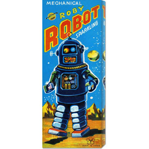 Roby Robot: 22 x 8 Canvas Giclees, Wall Art