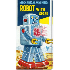 Mechanical Walking Robot with Spark: 22 x 11 Canvas Giclees, Wall Art