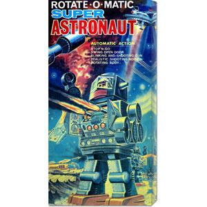 Rotate-O-Matic Super Astronaut: 22 x 11 Canvas Giclees, Wall Art