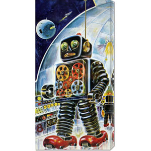 Gear Robot: 22 x 11 Canvas Giclees, Wall Art