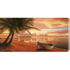 Tramonto ai Tropici by Adriano Galasso: 36 x 18 Canvas Giclees, Wall Art
