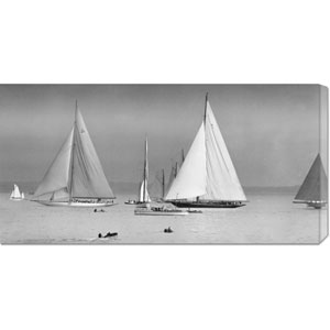 Start of the Kings Cup Race, 1932 by Anonymous: 36 x 18 Canvas Giclees, Wall Art